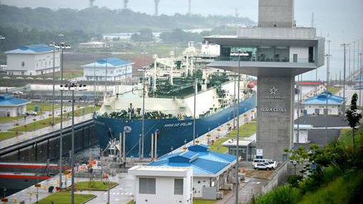 lng carrier in panama canal 16x9