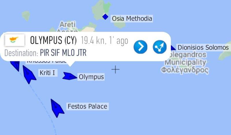 Marinetraffic ship olympus